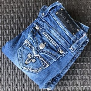 Rock Revival Celine Bootcut Sequined Pocket Sz.27